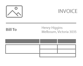 Commercial Invoice Template  Basic Tax Invoice Template