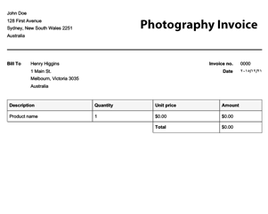 usa free photography invoice template online invoices