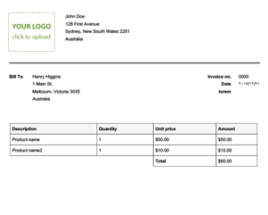 free tax invoice template online invoices