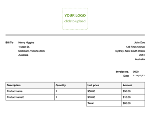 Invoices - Template of an invoice